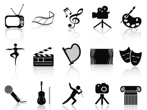 art concept icons set