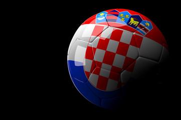 Croatia soccer ball on dark background
