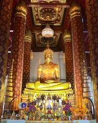 Ancient Buddha image in Ayutthaya, Thailand