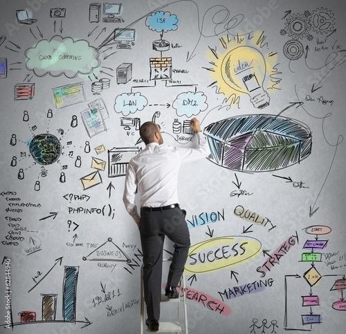 """""""Business project"""" Стоковая фотография и роялти-фри изображение на Fotolia.ru - Pic 62844940"""