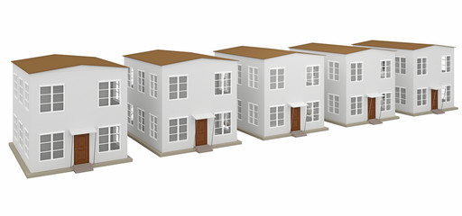 A row of small houses