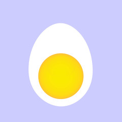 Boiled egg graphic- transverse section