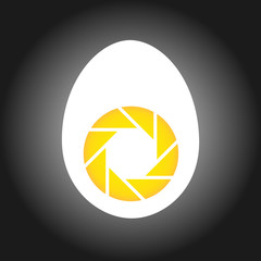 Logo for food photography- Aperture in an egg