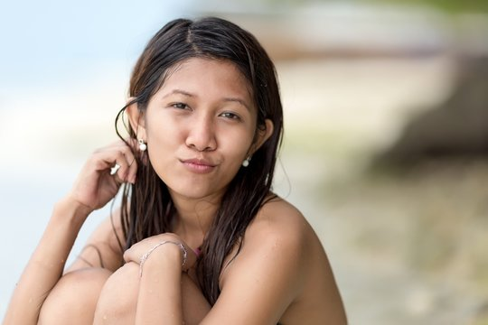 Beautiful charismatic young Filipina woman