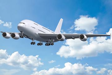 Großraumflugzeug, Jumbo Jet, Flugzeug,  Landeanflug