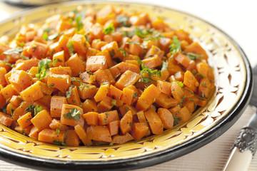 Fototapete - Moroccan carrot salad