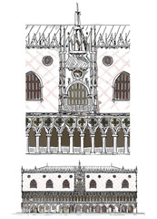 Venice sketch collection, Doge palace