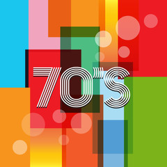 70s Vector Retro Art Background