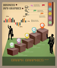 Graph infomation graphics,business concept