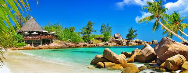 luxury tropical holidays - Seychelles islands Wall mural