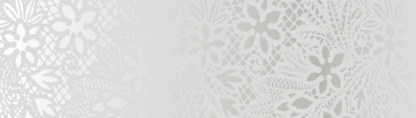 white background with lace pattern