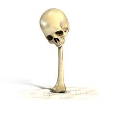 bones font letter I (version 2 with skull)