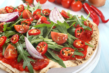 pizza vegetariana piccante
