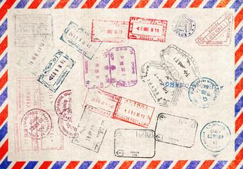 Immigration stamp. Passport Stamps