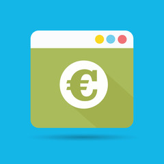 Euro money symbol,vector