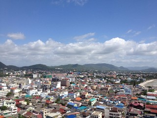 City scape of Huahin town, Thailand