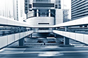 Fotomurales - view on modern city street