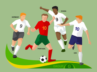 Soccer Players 2014 Group G