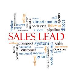 Sales Lead Word Cloud Concept