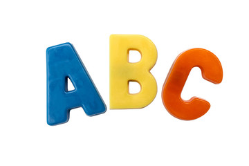 Letter magnets A B C