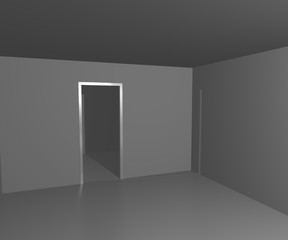 Empty White Interior Image