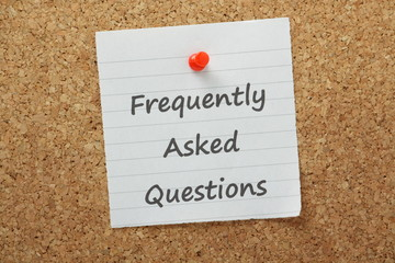 Wall Mural - The phrase Frequently Asked Questions