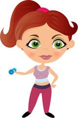 Ćwicząca dziewczyna