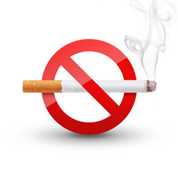 No Smoking Sign isolated on white background