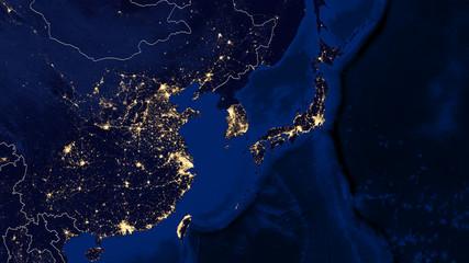Japan & East China Sea - Night - 02
