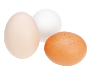 Colorful chicken eggs.