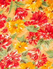Colorful flower cloth