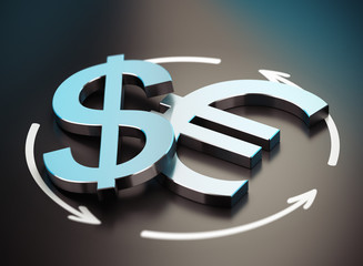Euro and Dollar Symbol. EUR USD Pair