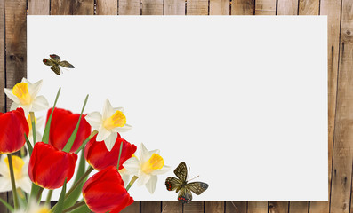 Spring background. Place for your text.