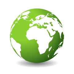 Green planet icon