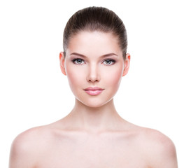 Beautiful face of young woman.