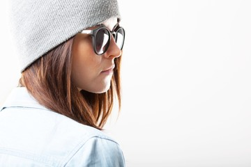 Teenage fashion style with copyspace