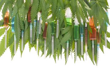 Syringe and hemp (cannabis)