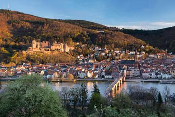 Fotomurales - Abendsonne in Heidelberg