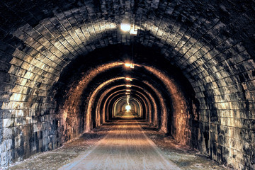 Wall Murals Tunnel Light at the end of the Tunnel