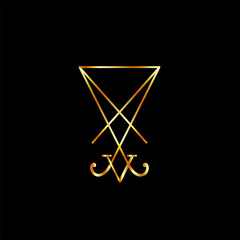 Sigil Of Lucifer in Gold