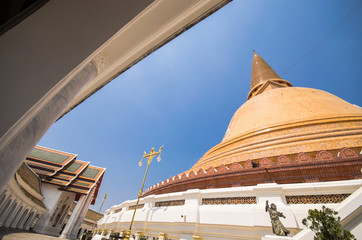 Phra Pathom Chedi temple in Nakhon Pathom Province, Thailand.