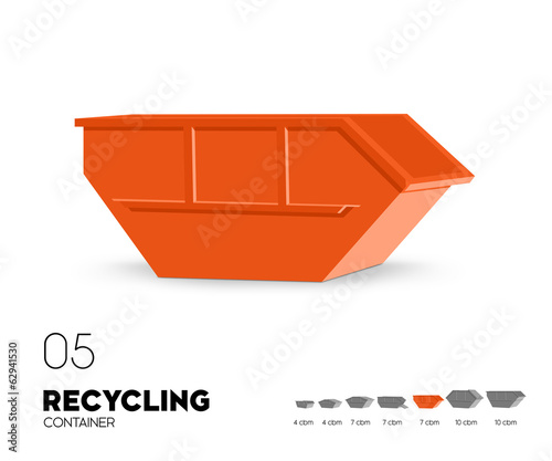 recycling container offen 7 cbm stockfotos und. Black Bedroom Furniture Sets. Home Design Ideas