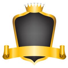 crown and ribbon