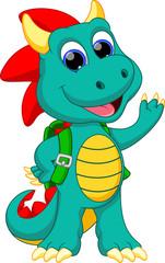 Happy dragon cartoon