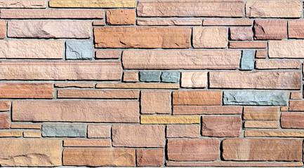 Seamless Flagstone Wall Background