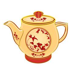 Teapot part of porcelain