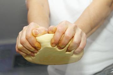 Making dough. Series.