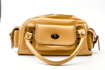 Women handbag isolated white background