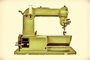 Retro styled image of a sewing machine