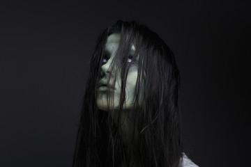 Portrait of a female zombie